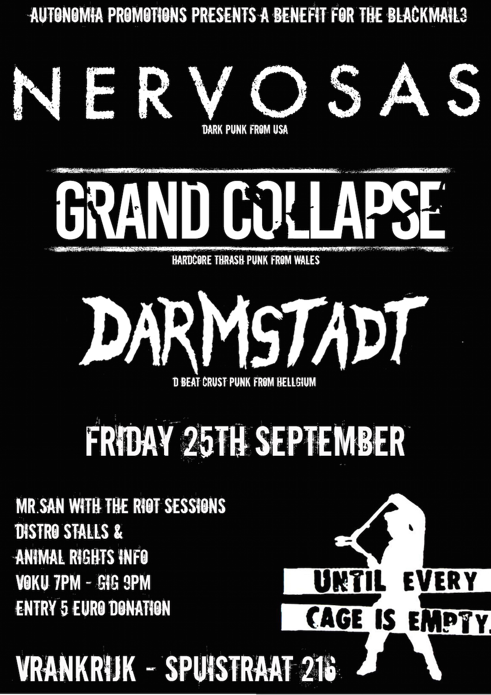 NERVOSAS (US) // GRAND COLLAPSE (UK) // DARMSTADT (BE) // Benefit
