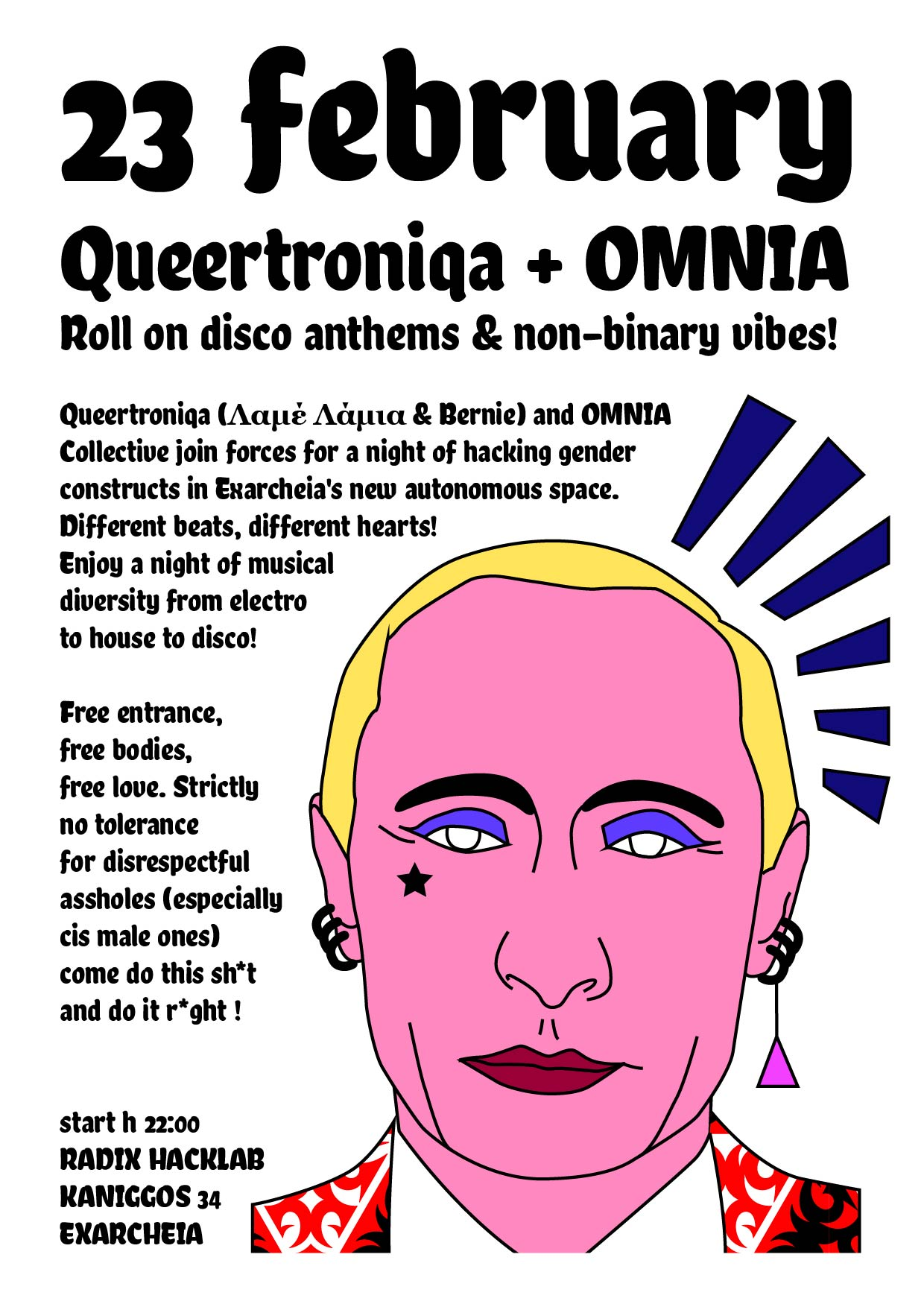 Radix Hacklab Hack your gender & party with Queertroniqa + OMNIA