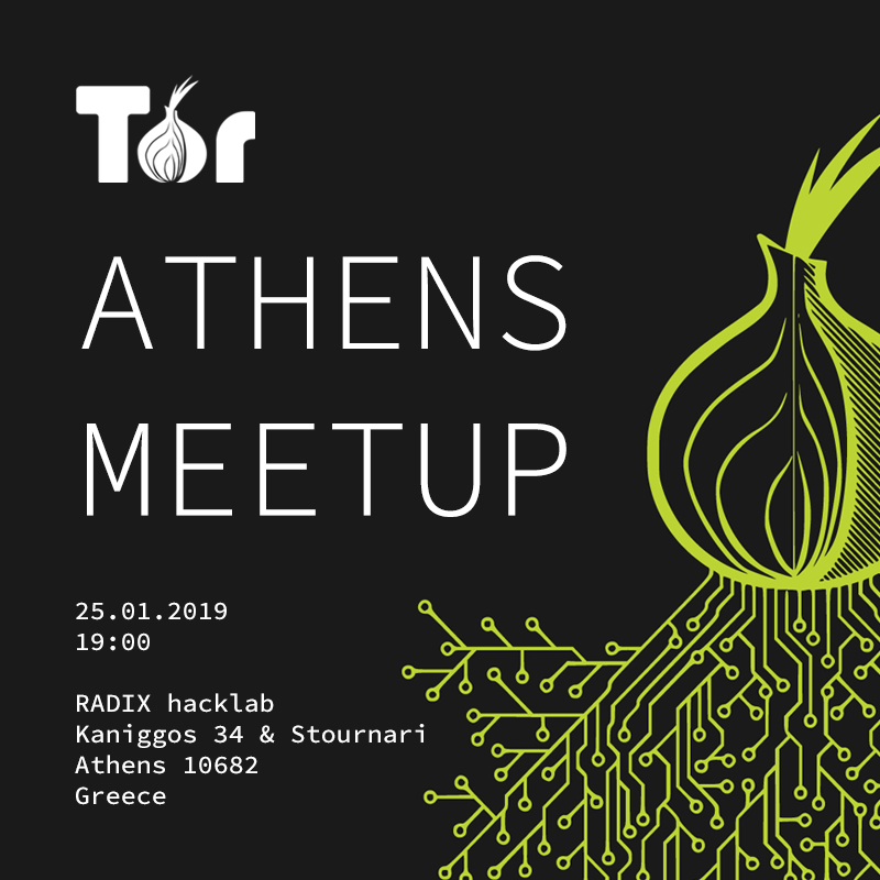 Radix Hacklab Tor Meetup January 2019